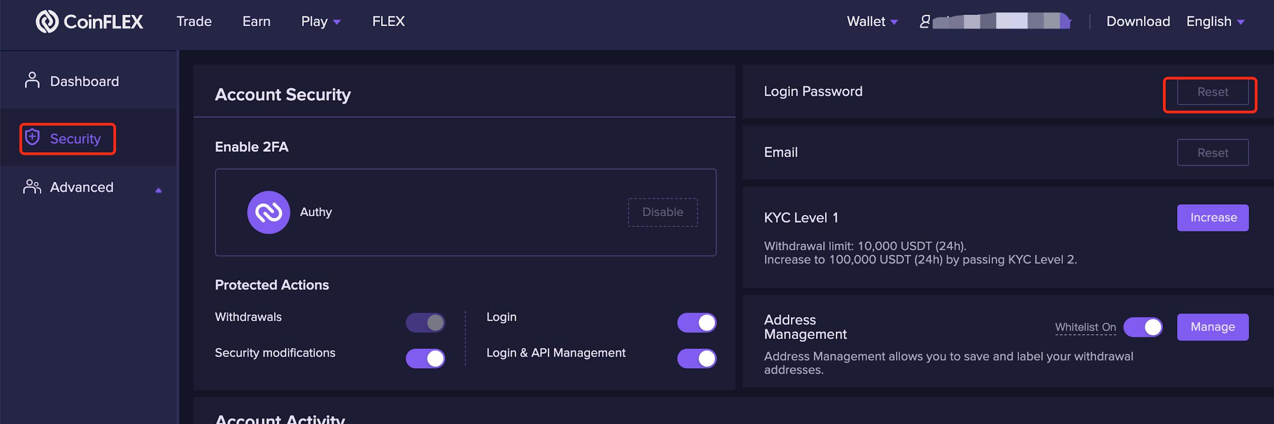 reset 4 1.1.3 Reset password