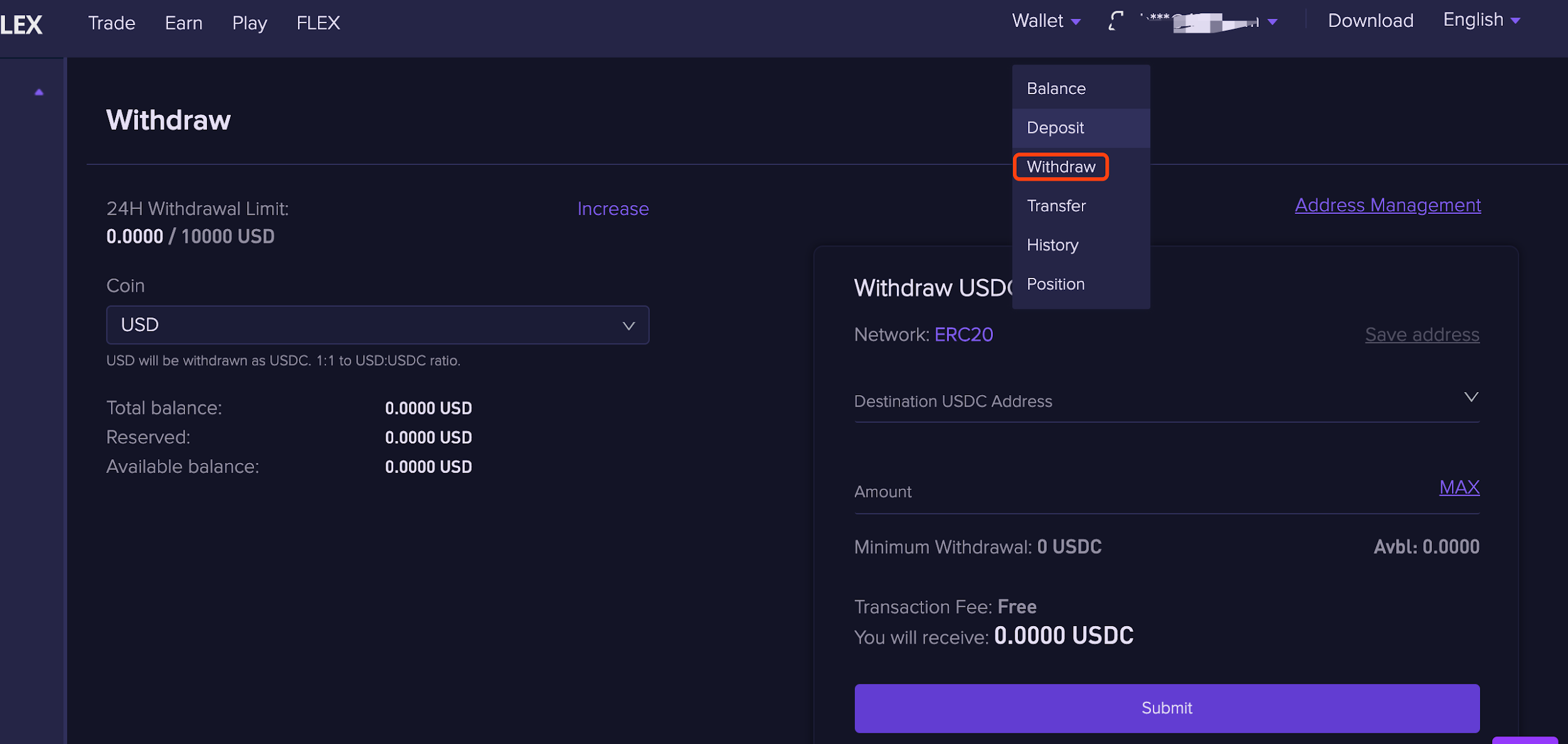 withdraw 1.1.6 Withdrawing funds