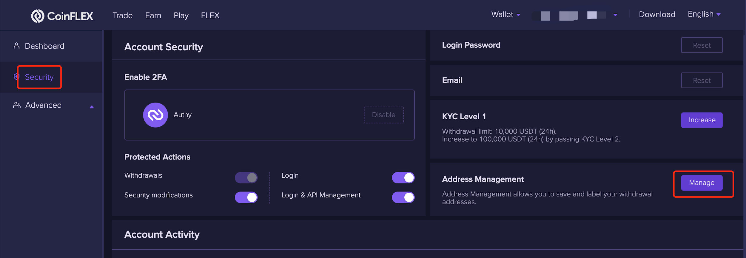 withdraw address 1.1.8 Changing withdrawal address
