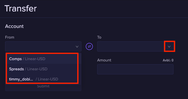 fund2 1.2.5 Funding a sub account
