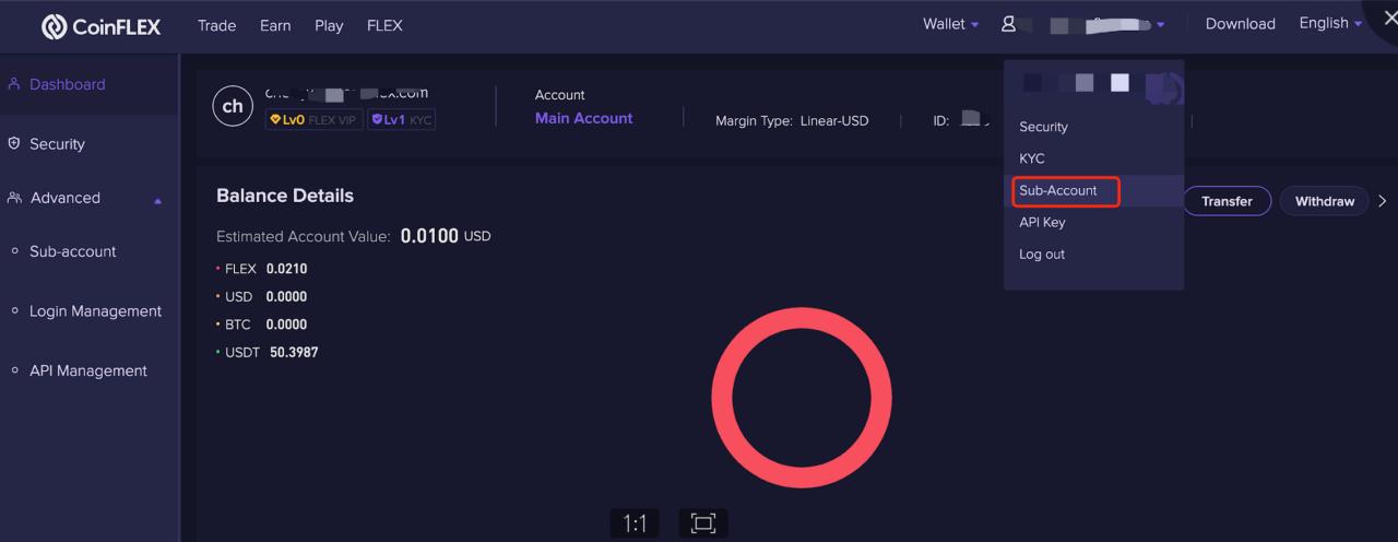 Delete 1 1.2.8 Deleting a sub account