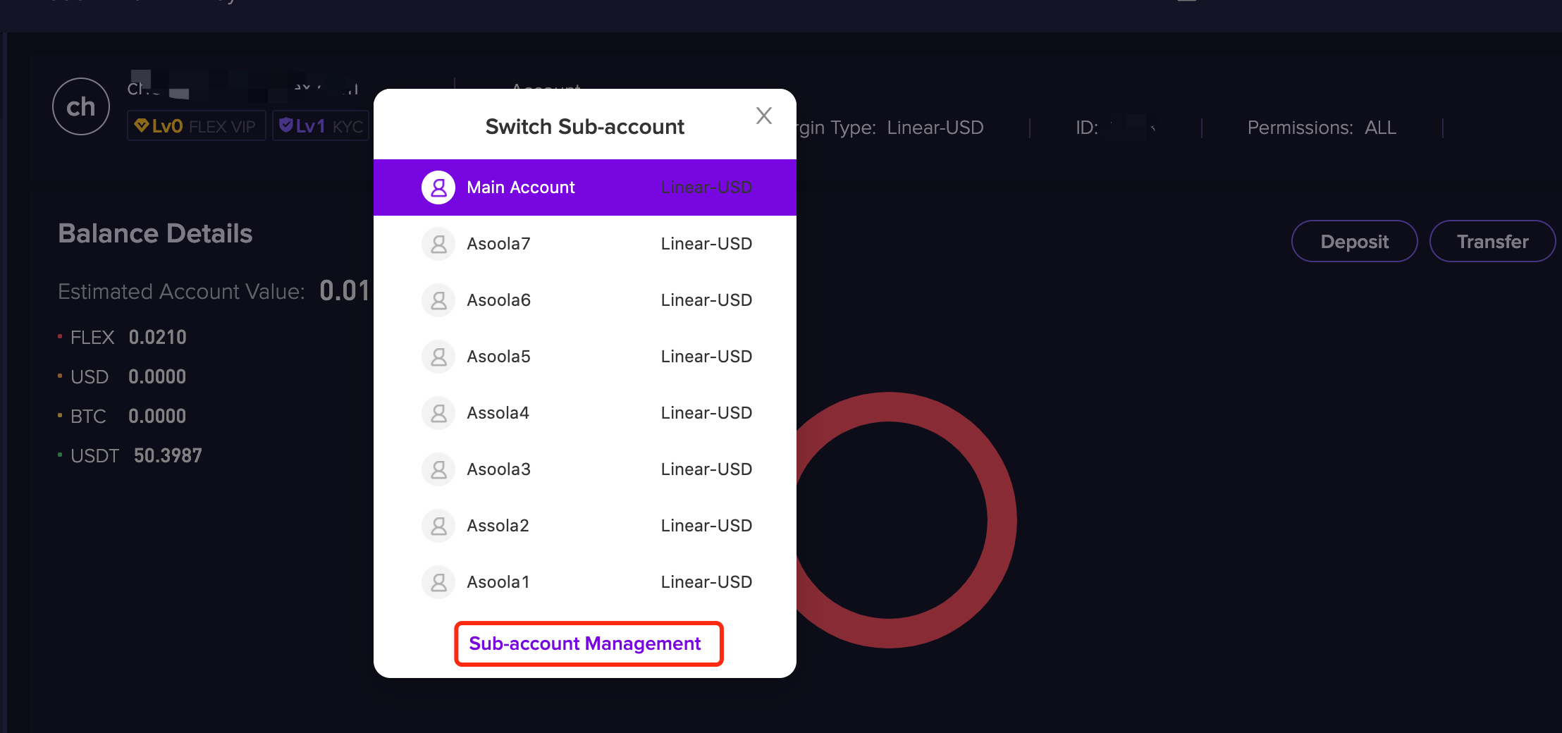 Delete2 1.2.8 Deleting a sub account