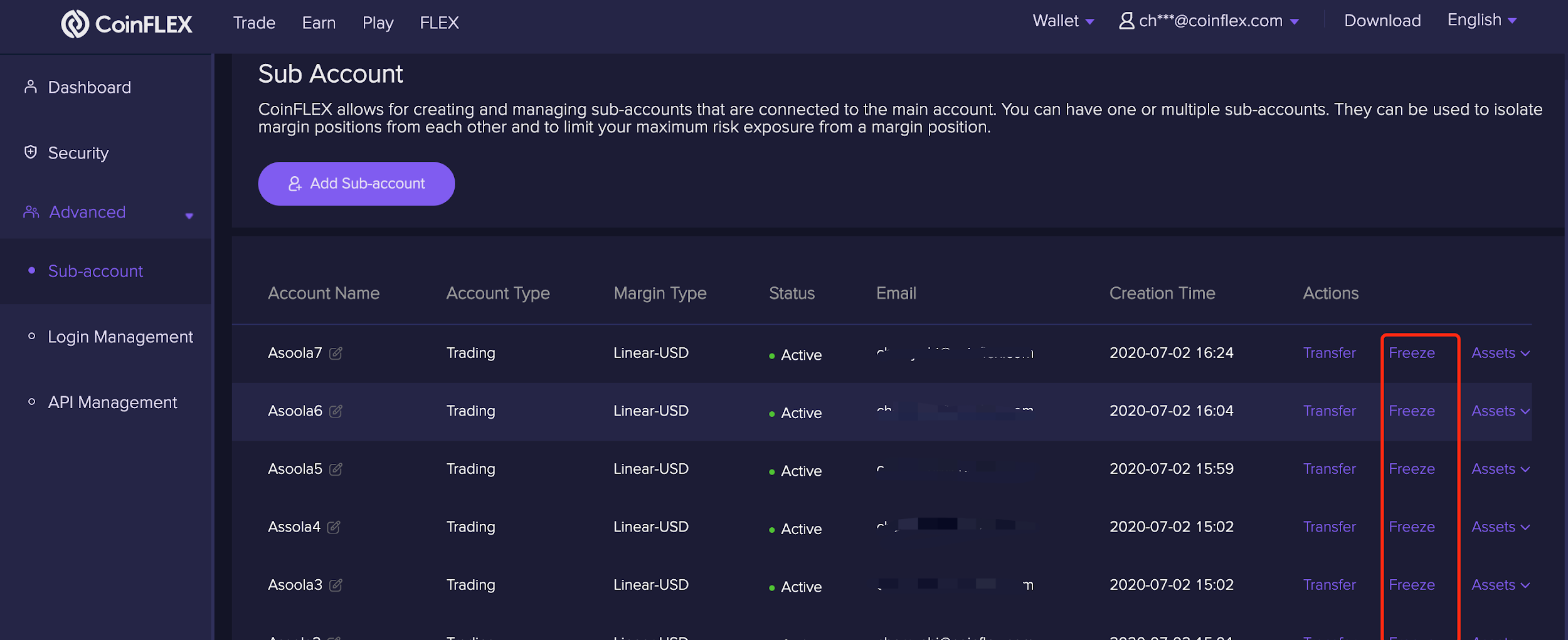 Delete 3 1.2.8 Deleting a sub account