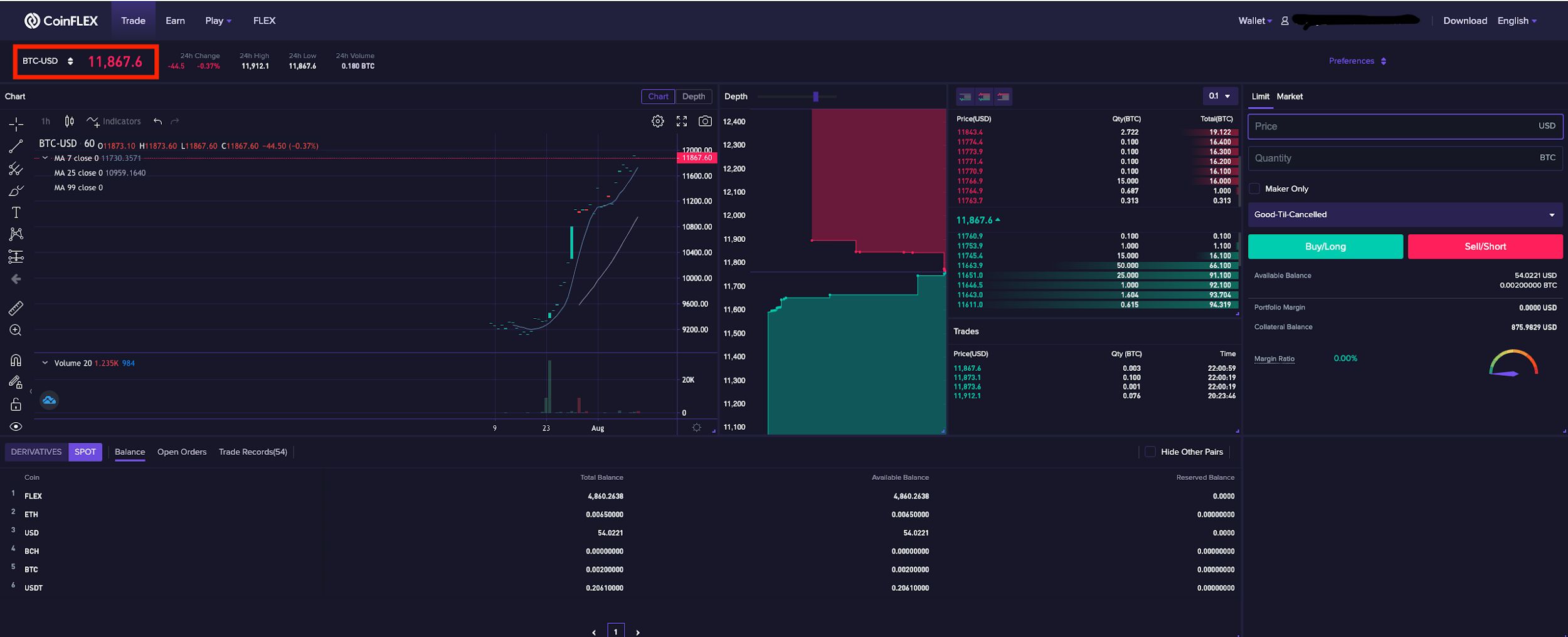 Trade3 1.1.10 Basics of how to trade on CoinFLEX