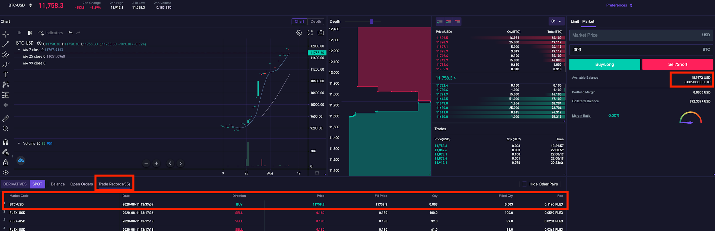 trade7 1.1.10 Basics of how to trade on CoinFLEX
