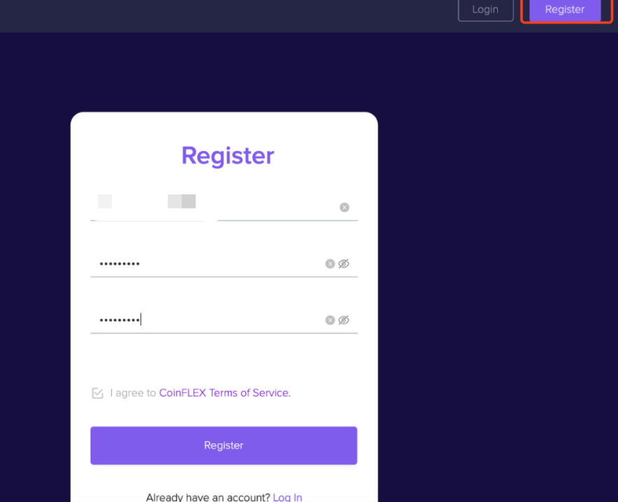 RegisterOne 1.1.1 Register on CoinFLEX