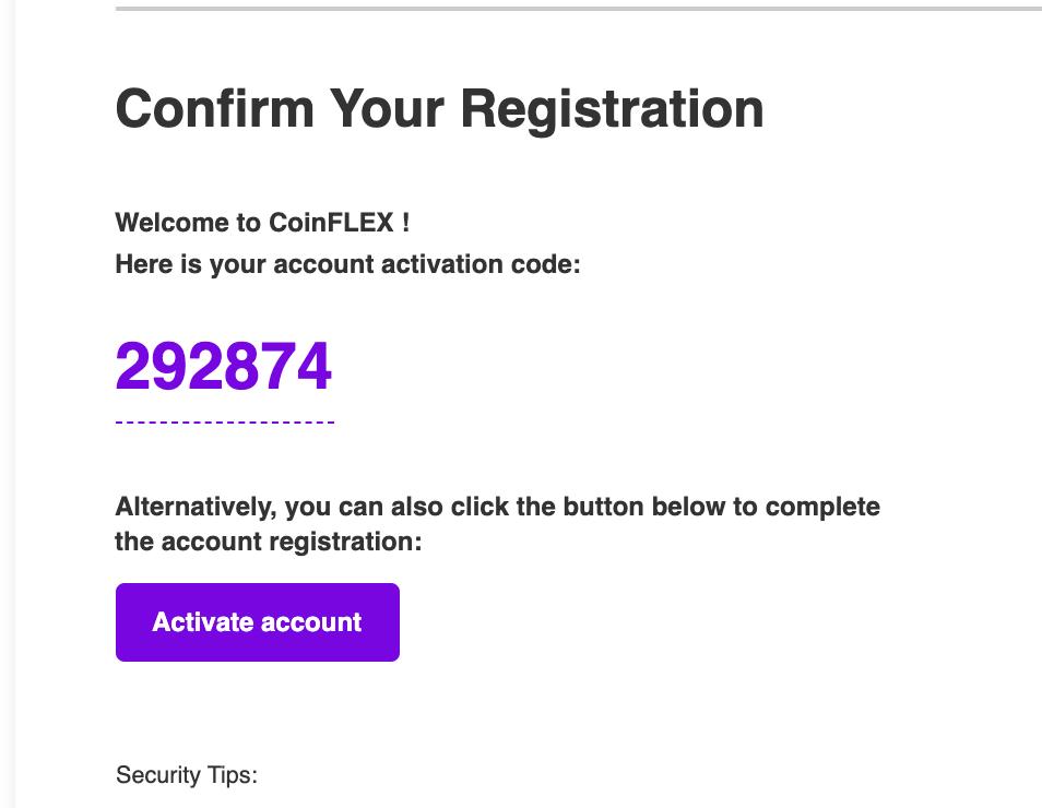 Verify2 1.1.1 Register on CoinFLEX
