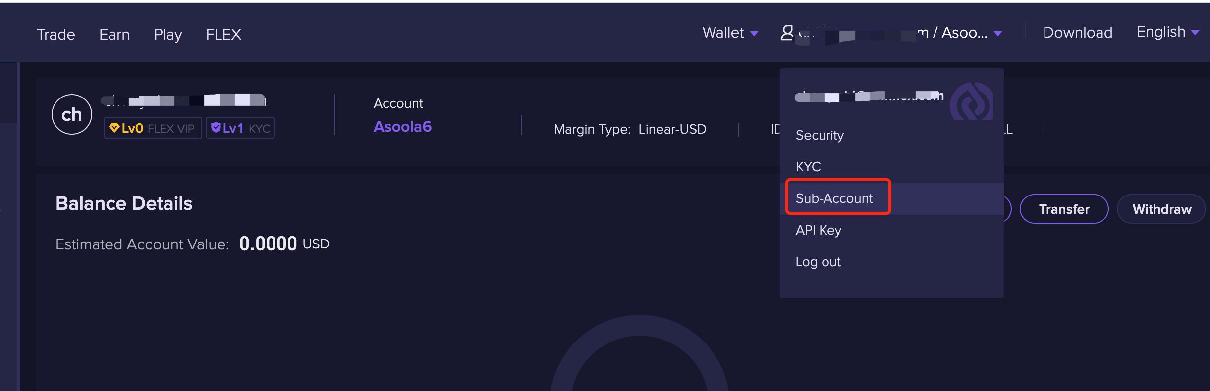 ID1 1.2.10 Checking sub account ID