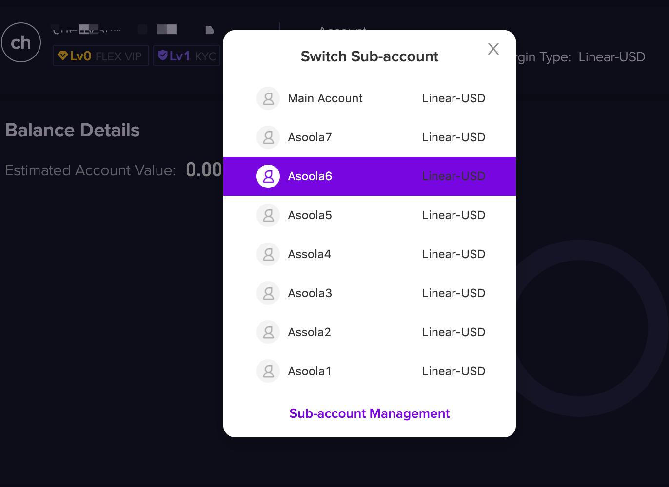 ID2 1.2.10 Checking sub account ID